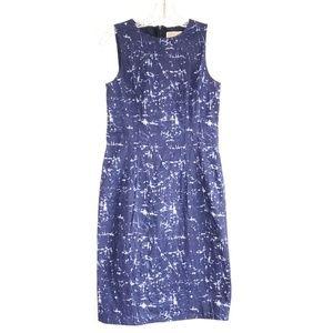 Michael Kors Blue & White Sleeveless Dress Size 8